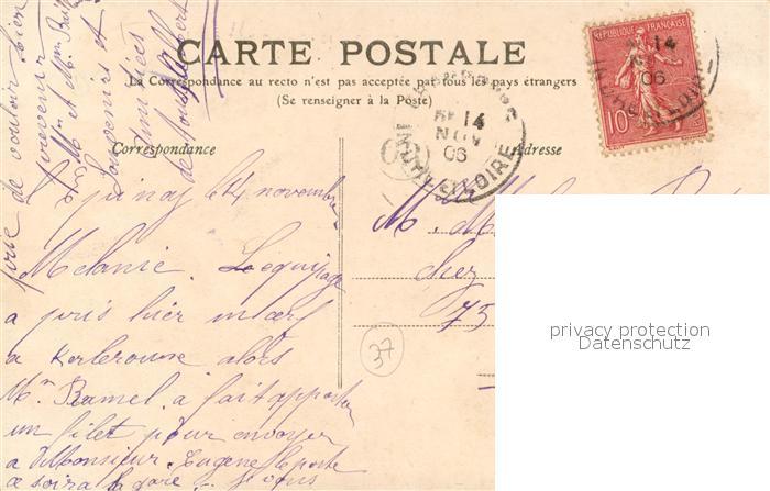 AK / Ansichtskarte Tours_Indre et Loire Place Saint Clement et Rue des Halles Tours Indre et Loire 1