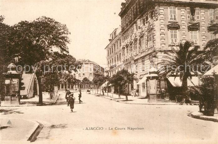 AK / Ansichtskarte Ajaccio Le Cours Napoleon Ajaccio