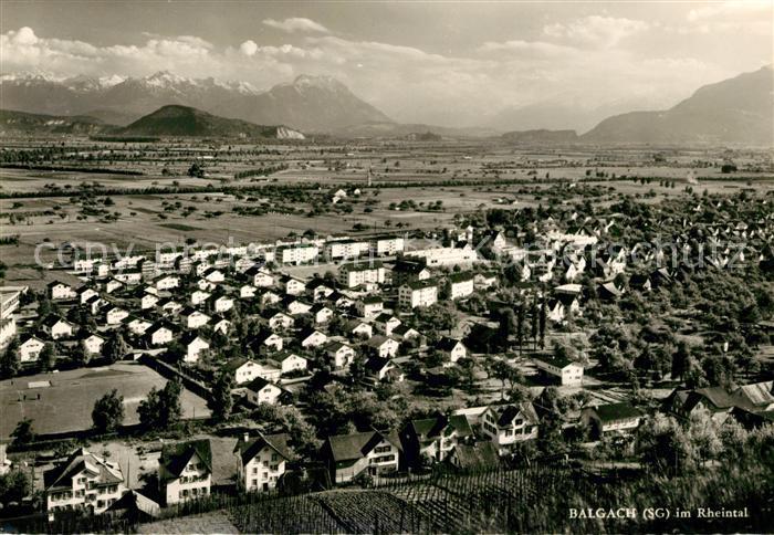 AK / Ansichtskarte Balgach Panorama Rheintal Balgach 0