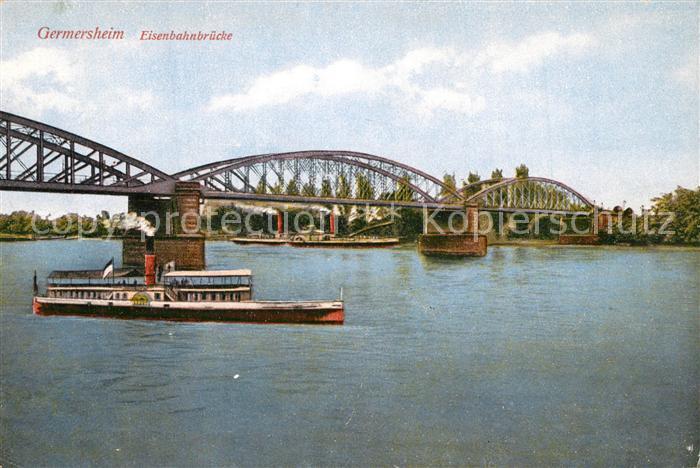 AK / Ansichtskarte Germersheim Eisenbahnbr?cke Germersheim 0