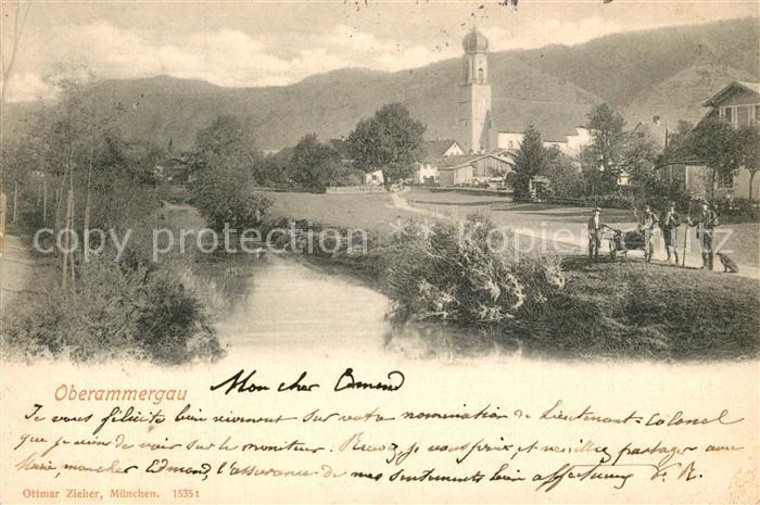 AK / Ansichtskarte Oberammergau Partie am Fluss Oberammergau 0