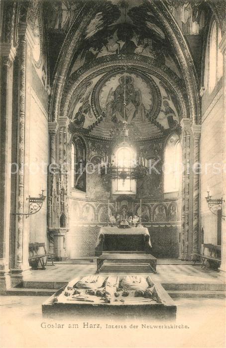 AK / Ansichtskarte Goslar Neuwerkskirche innen Goslar 0