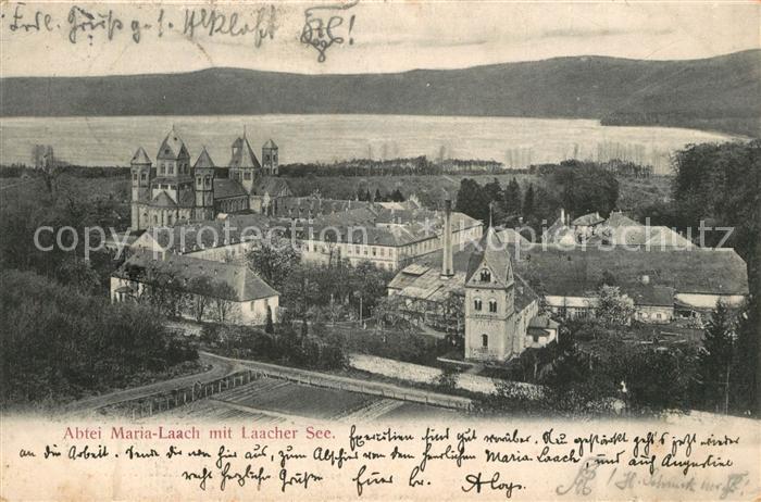 AK / Ansichtskarte Maria_Laach_Glees Abtei mit Laacher See Maria_Laach_Glees 0