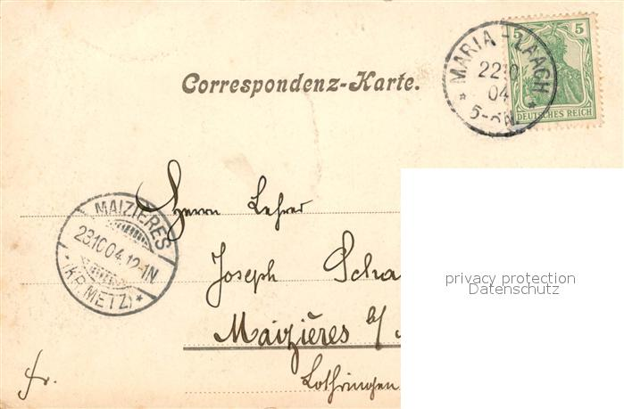 AK / Ansichtskarte Maria_Laach_Glees Abtei mit Laacher See Maria_Laach_Glees 1