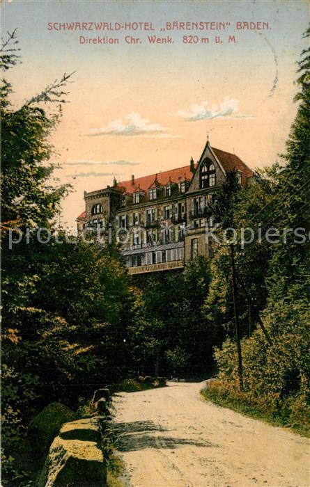 AK / Ansichtskarte Buehl_Baden Schwarzwald Hotel Baerenstein Buehl_Baden 0