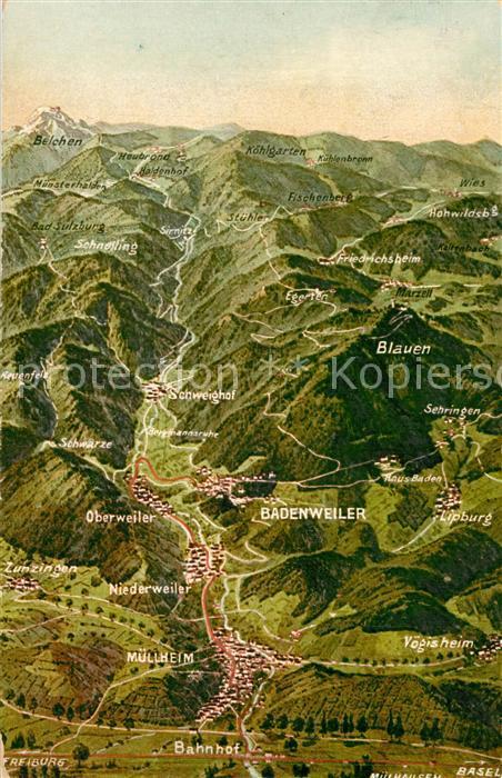 AK / Ansichtskarte Badenweiler und Umgebung aus der Vogelperspektive Badenweiler 0