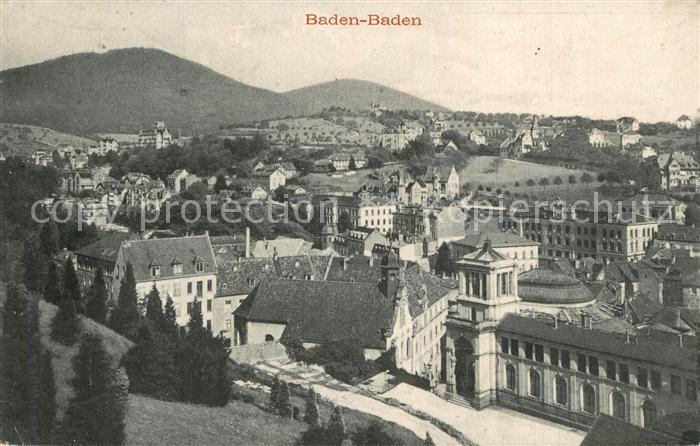 AK / Ansichtskarte Baden Baden Stadtpanorama Baden Baden 0