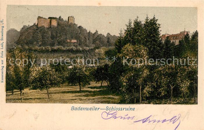 AK / Ansichtskarte Badenweiler Schlossruine Badenweiler 0