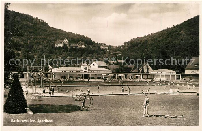 AK / Ansichtskarte Badenweiler Sportbad Freibad Badenweiler 0