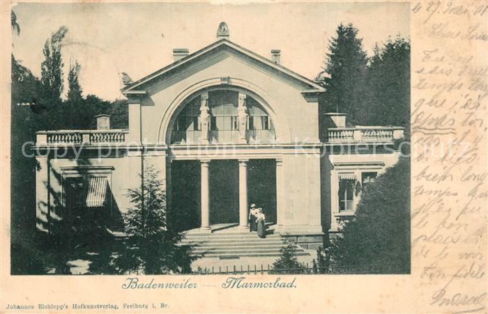AK / Ansichtskarte Badenweiler Marmorbad Kurort im Schwarzwald Badenweiler