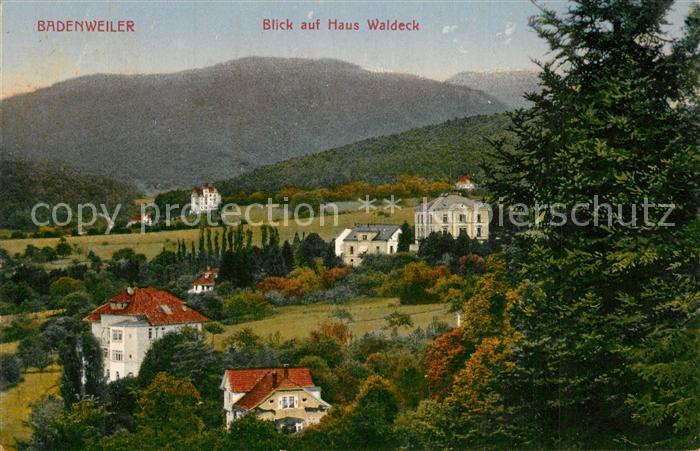 AK / Ansichtskarte Badenweiler Panorama Blick auf Haus Waldeck Badenweiler 0