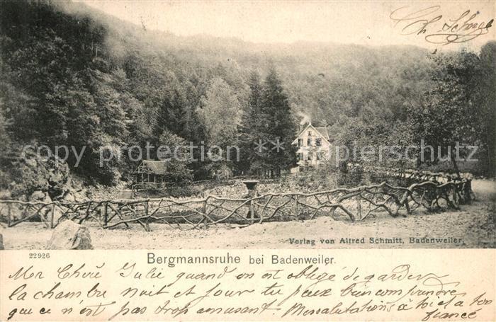 AK / Ansichtskarte Badenweiler Waldgasthof Bergmannsruhe Badenweiler 0