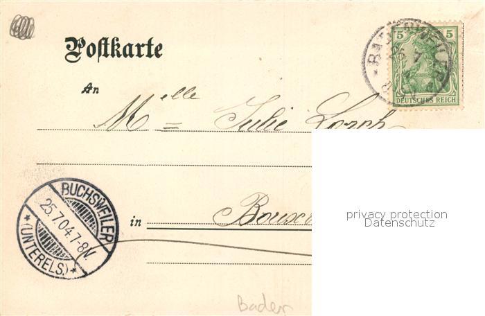 AK / Ansichtskarte Badenweiler Waldgasthof Bergmannsruhe Badenweiler 1