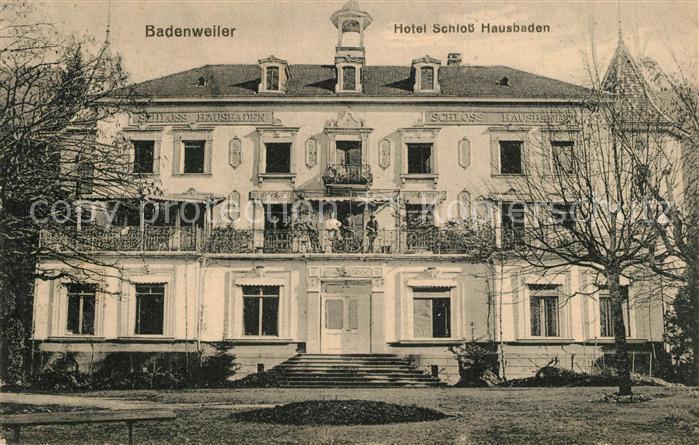 AK / Ansichtskarte Badenweiler Hotel Schloss Hausbaden Badenweiler 0
