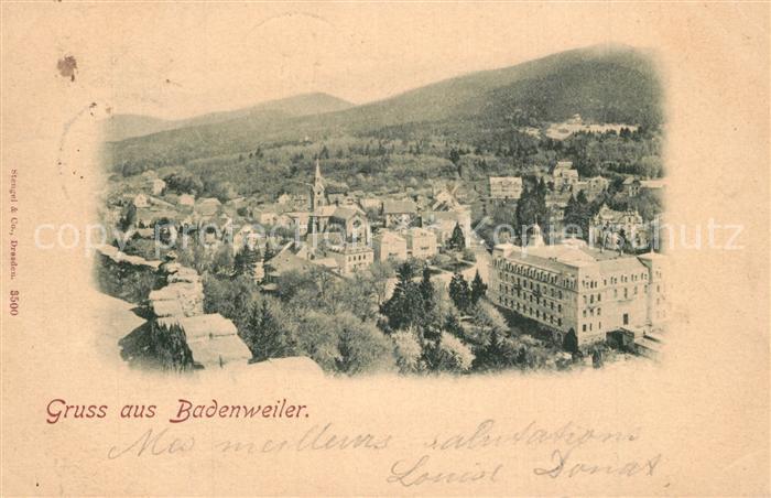 AK / Ansichtskarte Badenweiler Stadtpanorama Kurort im Schwarzwald Badenweiler