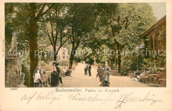 AK / Ansichtskarte Badenweiler Partie im Kurpark Promenade Badenweiler