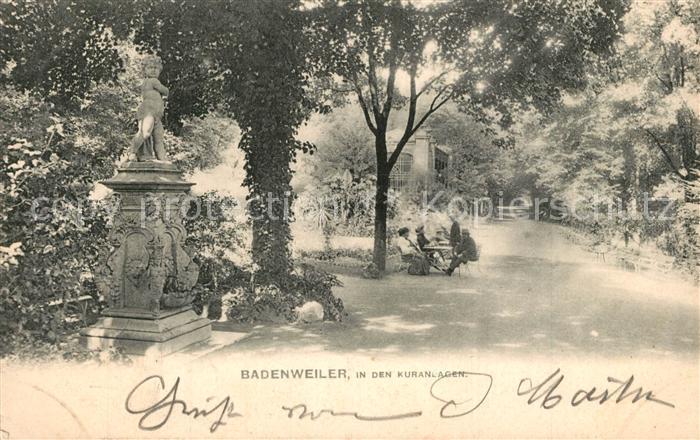 AK / Ansichtskarte Badenweiler Kuranlagen Kurpark Promenade Badenweiler