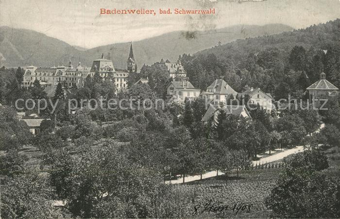 AK / Ansichtskarte Badenweiler Teilansicht Kurort im Schwarzwald Badenweiler