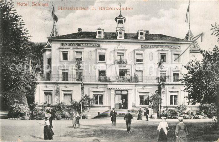 AK / Ansichtskarte Badenweiler Hotel Schloss Hausbaden Badenweiler