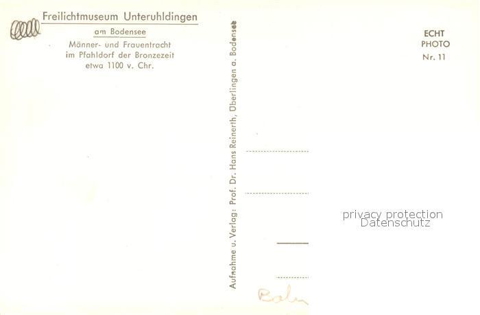 AK / Ansichtskarte Unteruhldingen Freilichtmuseum Trachten im Pfahldorf der Bronzezeit Unteruhldingen 1