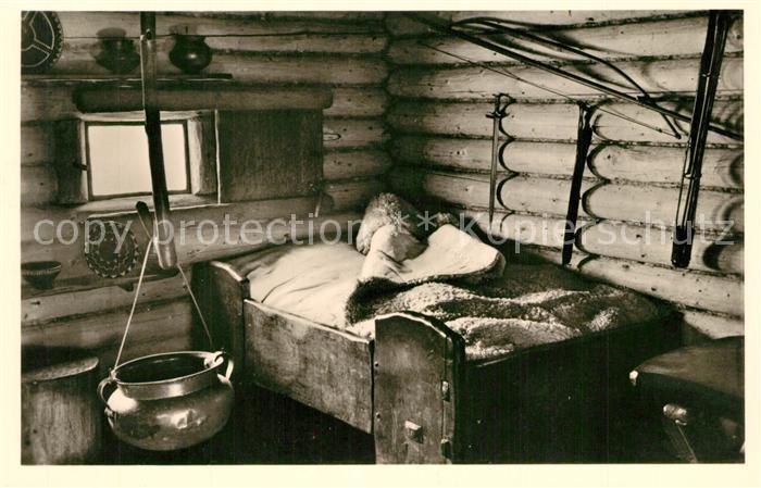 AK / Ansichtskarte Unteruhldingen Freilichtmuseum Bettdecke in einem Hause der Bronzezeit Unteruhldingen