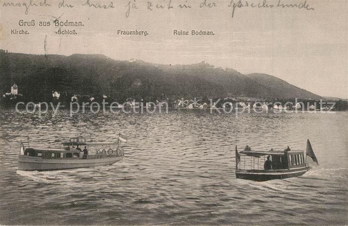 AK / Ansichtskarte Bodman_Bodensee Ansicht vom See aus Boote Bodman Bodensee 0