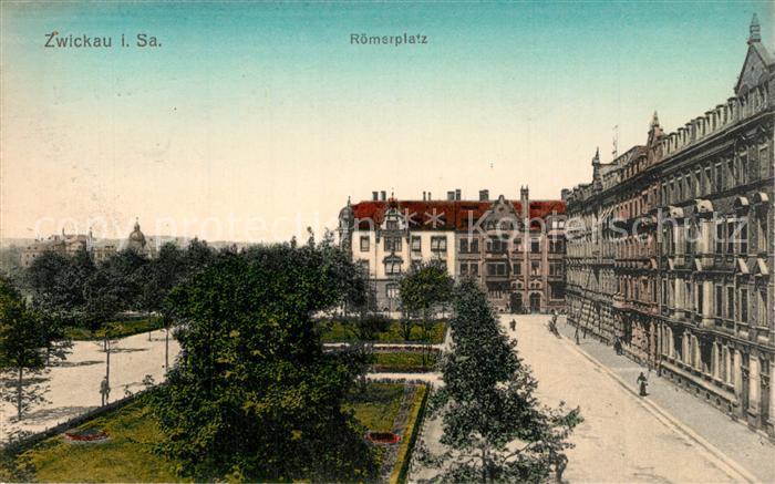 AK / Ansichtskarte Zwickau_Sachsen Roemerplatz Zwickau Sachsen 0