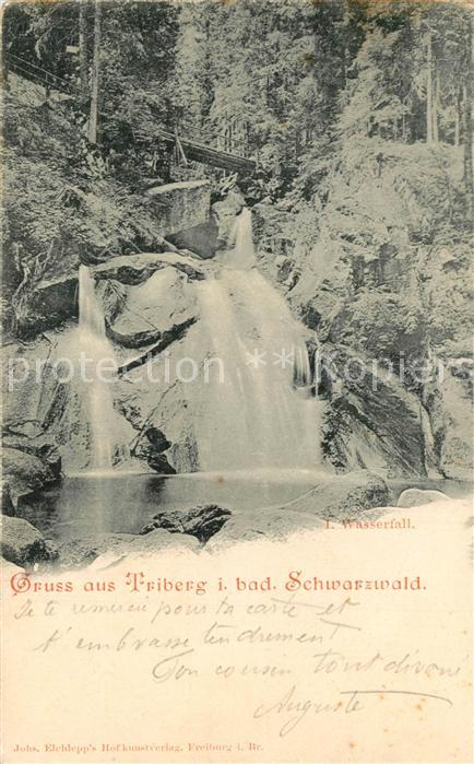 AK / Ansichtskarte Triberg_Schwarzwald Wasserfall Triberg Schwarzwald 0