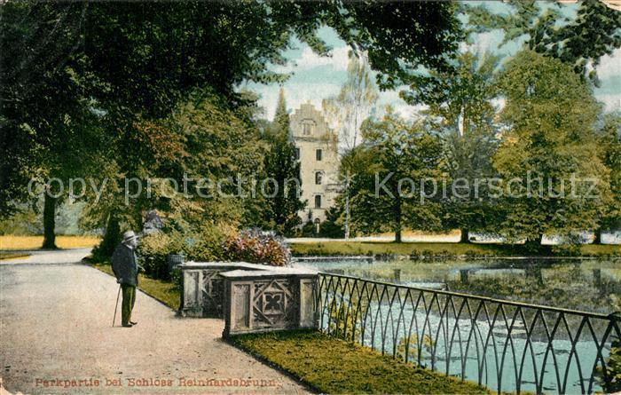 AK / Ansichtskarte Reinhardsbrunn Park Schloss Reinhardsbrunn 0