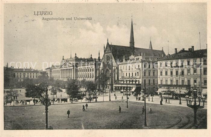 AK / Ansichtskarte Leipzig Augustusplatz Universitaet Leipzig 0