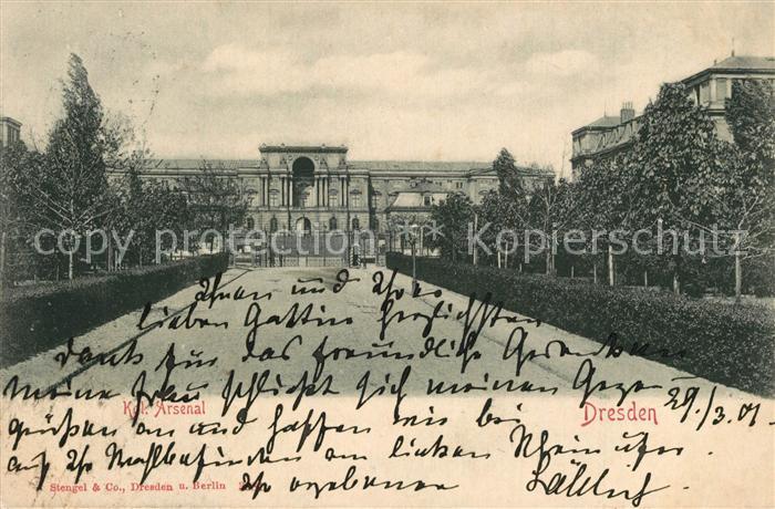AK / Ansichtskarte Dresden Koenigliches Arsenal Dresden 0