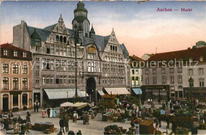 AK / Ansichtskarte Aachen Markt Aachen 0