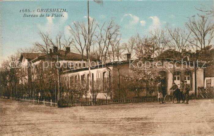 AK / Ansichtskarte Griesheim pres Molsheim Bureau de la Place Griesheim pres Molsheim 0