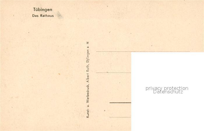 AK / Ansichtskarte Tuebingen Rathaus Kuenstlerkarte Tuebingen 1