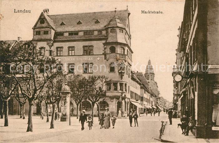 AK / Ansichtskarte Landau_Pfalz Marktstrasse Landau Pfalz 0