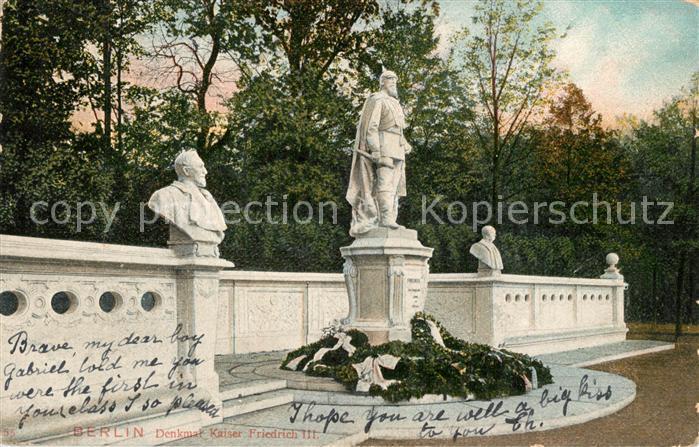AK / Ansichtskarte Berlin Denkmal Kaiser Friedrich III Berlin 0