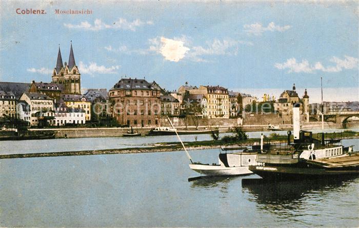 AK / Ansichtskarte Coblenz_Koblenz Stadtpanorama Mosel  Coblenz_Koblenz 0