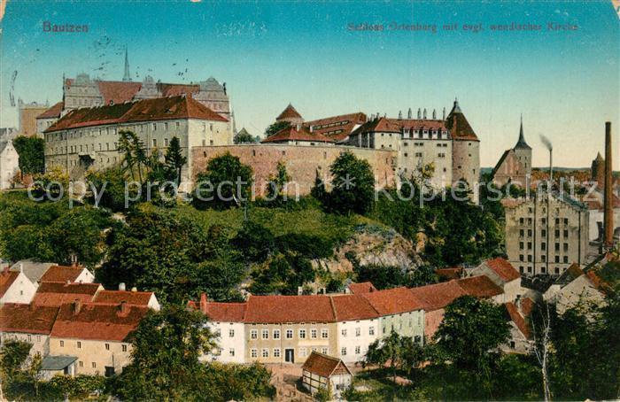AK / Ansichtskarte Bautzen Schloss Ortenburg evangelisch wendische Kirche Bautzen 0