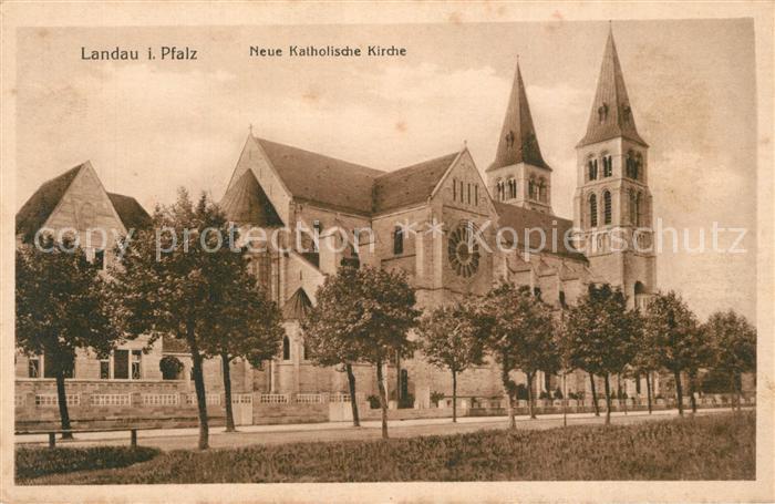 AK / Ansichtskarte Landau_Pfalz Neue Katholische Kirche Landau Pfalz 0