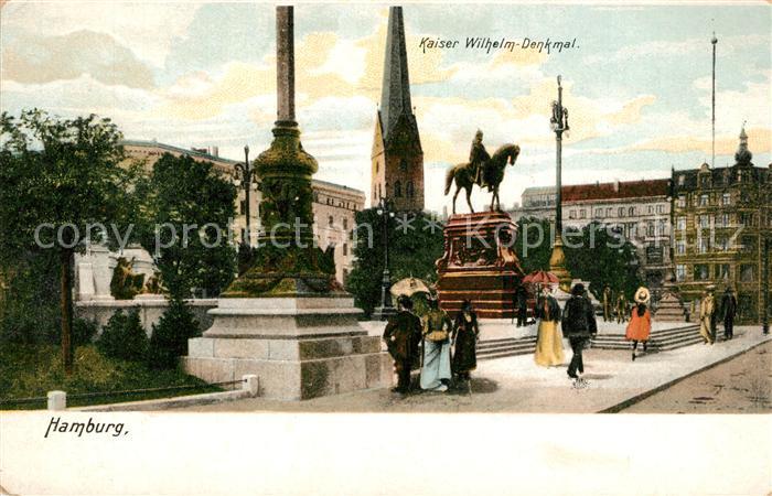 AK / Ansichtskarte Hamburg Kaiser Wilhelm Denkmal Hamburg 0