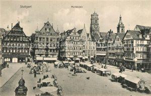 AK / Ansichtskarte Stuttgart Marktplatz Stuttgart