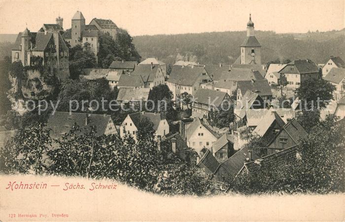 AK / Ansichtskarte Hohnstein_Saechsische_Schweiz Schloss Panorama Hohnstein_Saechsische 0