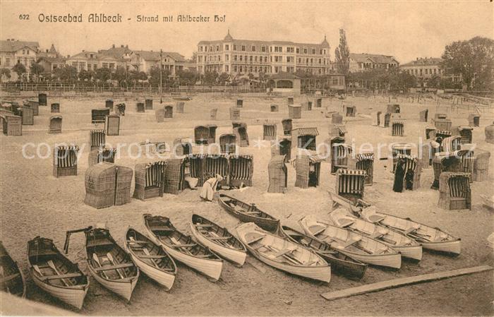 AK / Ansichtskarte Ahlbeck_Ostseebad Strand Ahlbecker Hof Ahlbeck_Ostseebad 0