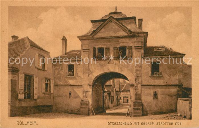 AK / Ansichtskarte Goellheim Oberes Stadttor 1778 Goellheim 0