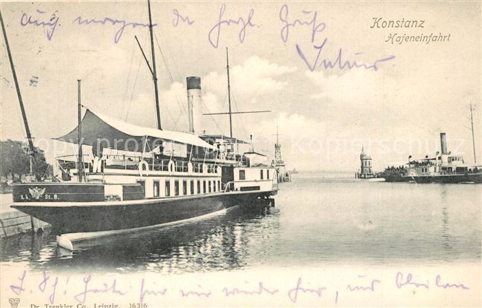 AK / Ansichtskarte Konstanz_Bodensee Hafeneinfahrt Konstanz_Bodensee 0