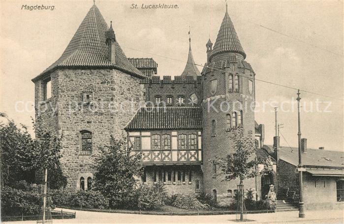 AK / Ansichtskarte Magdeburg Sankt Lucasklause Magdeburg 0