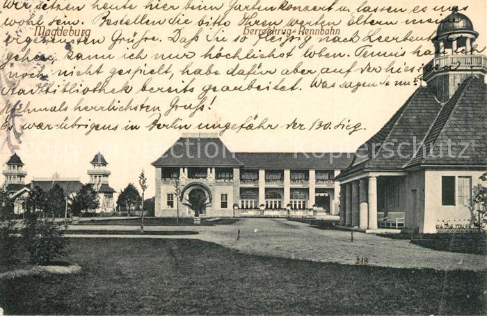 AK / Ansichtskarte Magdeburg Herrenkrug Rennbahn Magdeburg 0
