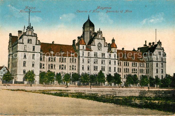 AK / Ansichtskarte Mainz_Rhein Alicen Kaserne Mainz Rhein 0