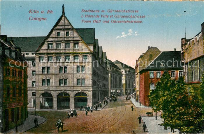 AK / Ansichtskarte Koeln_Rhein Stadthaus Guerzenichstrasse Koeln_Rhein 0