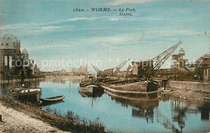 AK / Ansichtskarte Worms_Rhein Hafen Worms Rhein 0